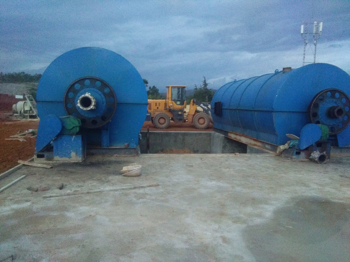 2 sets 12T/D pyrolysis plant in Dali,Yunnan were put into operation