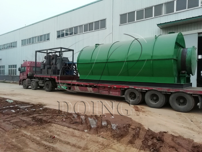 2 sets 10T/D waste tyre to oil pyrolysis plants delivered to Liaoning, China
