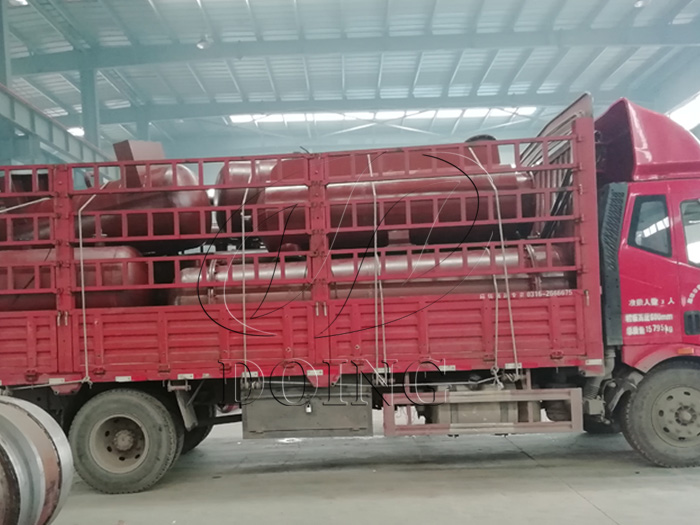 One 12T waste tyre recycling plant transported to Shandong, China