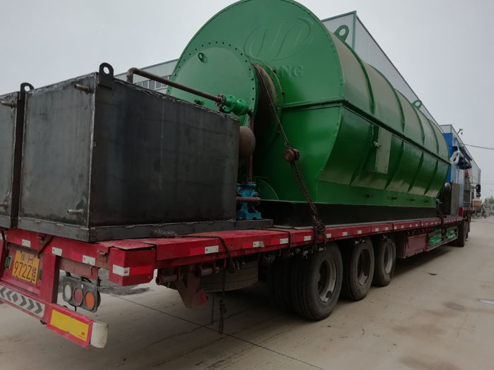 Henan customer two sets 12T waste tyre recycling plant completed the delivery