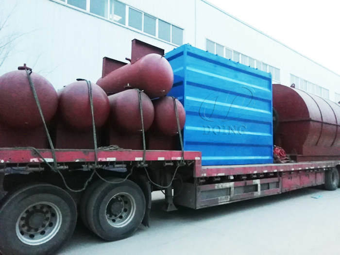 Two sets 10T/D waste tyre recycling plant delivered to Anhui, China