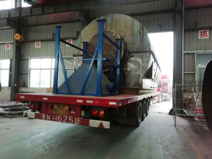 The delivery of two sets 12T waste plastic to oil machine to Guangdong, China have been completed