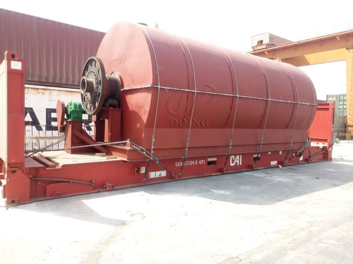 One set 12T/D waste tyre recycling plant sold to Egypt