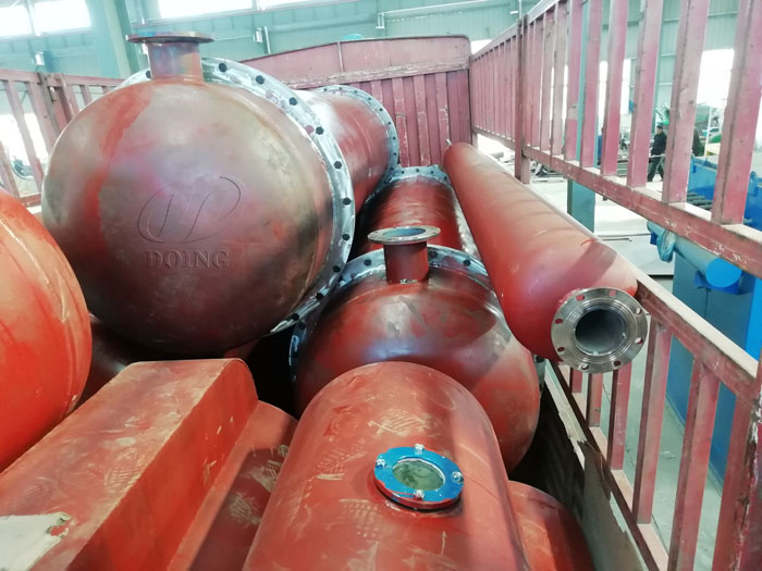 One set 12T waste tyre pyrolysis equipment for Indian customer finished delivery
