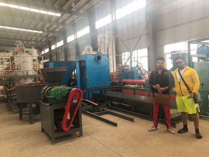 Ethiopian customers ordered one set 10T waste tire pyrolysis equipment