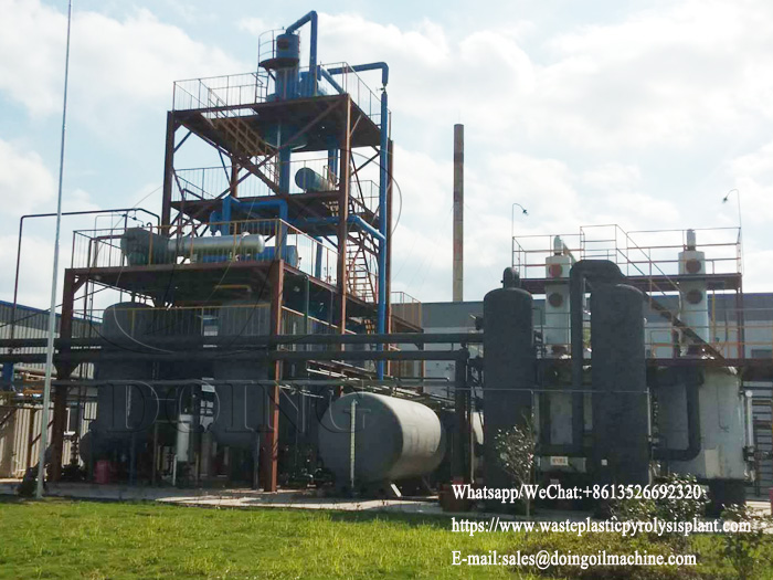 One set of 10T waste oil distillation plant installed in Anhui, China