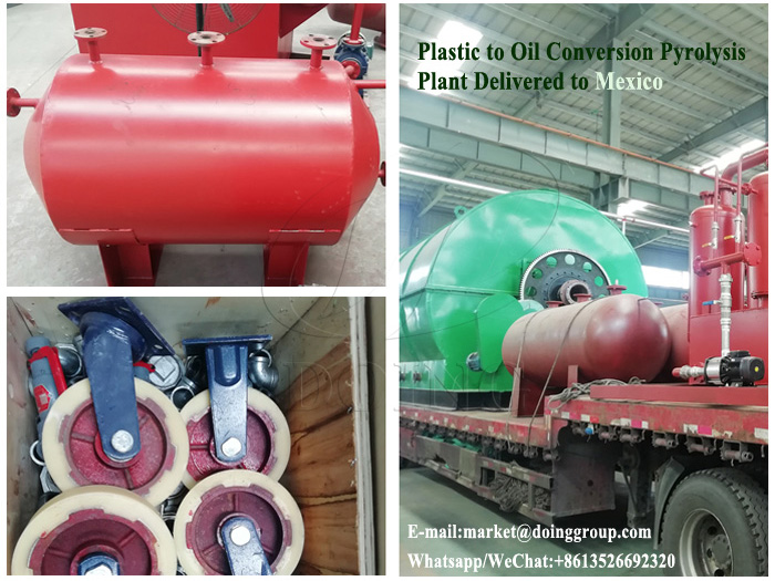 One set 12T plastic to oil conversion pyrolysis plant was successfully sent to Mexico