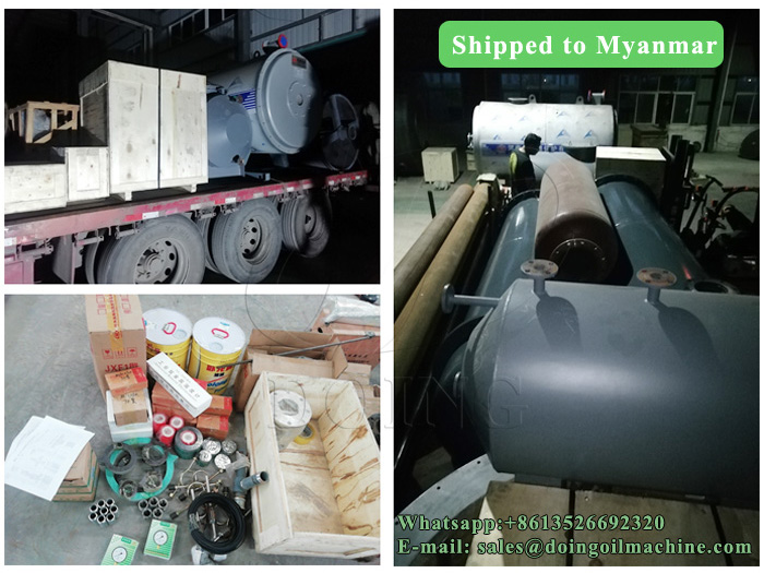 5T waste engine oil to diesel distillation plant was shipped to Myanmar