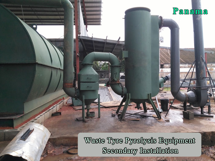 After-sales service for old customers' waste tyre pyrolysis equipment secondary installation