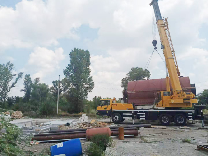12T waste tyre pyrolysis equipment project installed in Ukraine