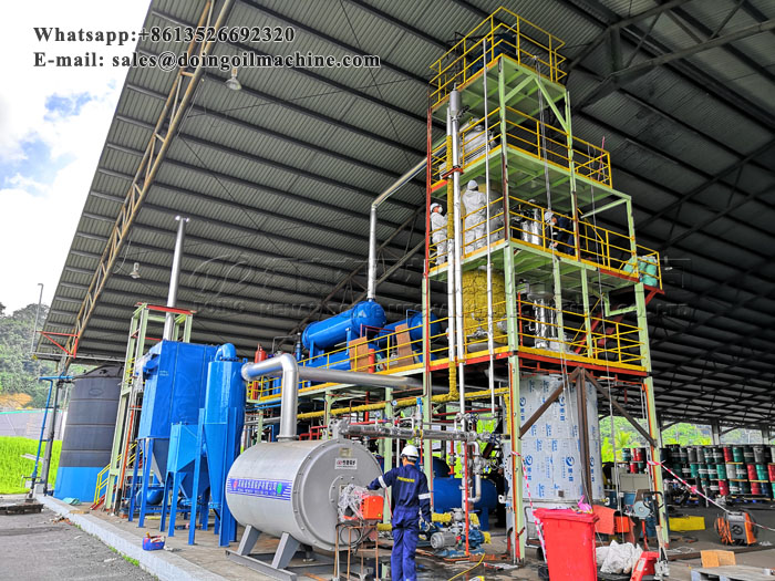 5TPD waste oil refining to diesel machine project in Malaysia