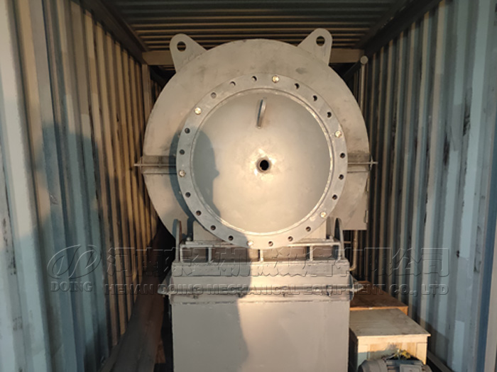 One set small waste plastic pyrolysis plant was sent to Chile