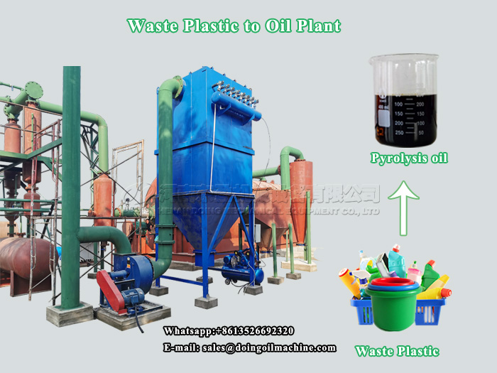 What is oil from plastic waste and what is the uses of plastic pyrolysis oil?