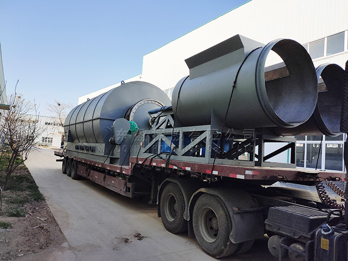 Two sets 12T waste tyre pyrolysis plant sent to Mexico