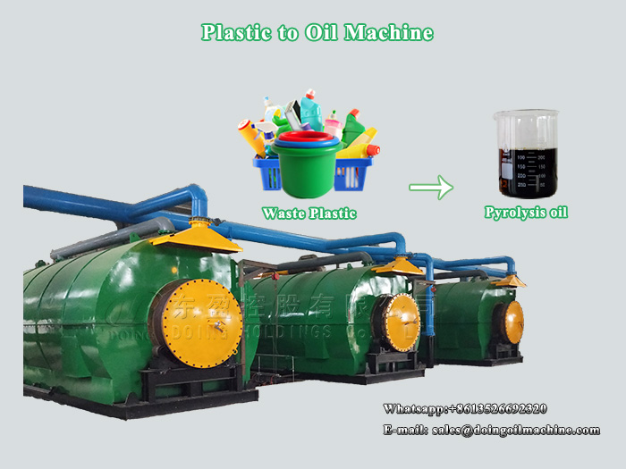 What factors affect the price of plastic to oil machine?