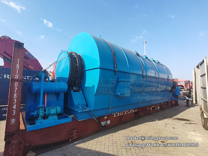 12T/D waste plastic pyrolysis plant was delivered to France