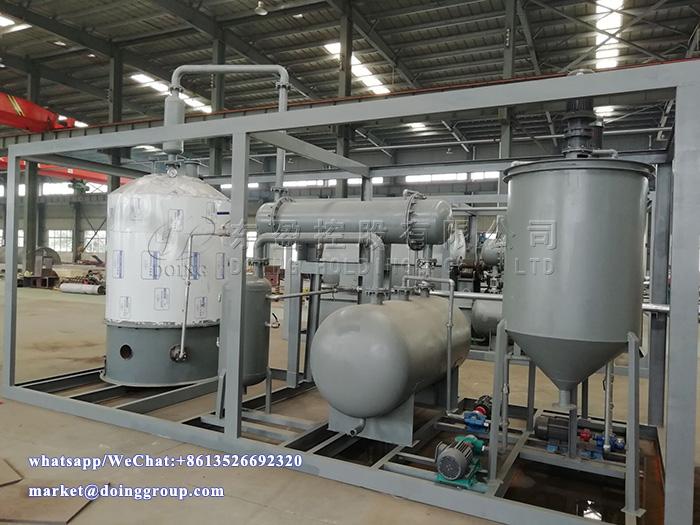 1T/D waste oil distillation machine was delivered to Ghana