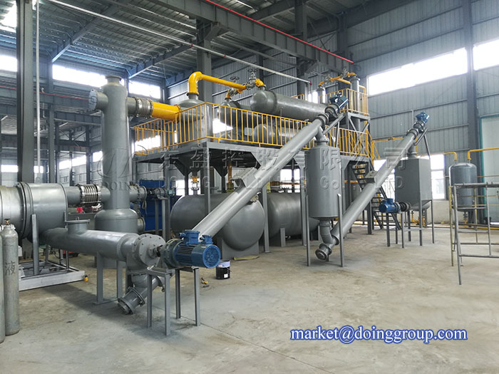 DOING live broadcast for depth analysis continuous pyrolysis plant