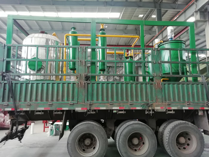 500 kilograms of small waste oil distillation machine were delivered to Mongolia