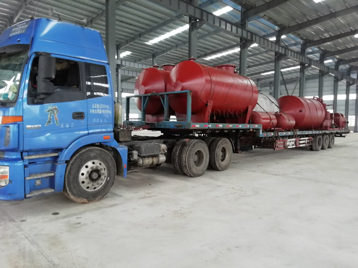 One set 10T waste oil to diesel plant was delivered to Nigeria