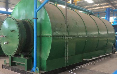 Two sets 10T tyre recycling to oil plant were installed in An