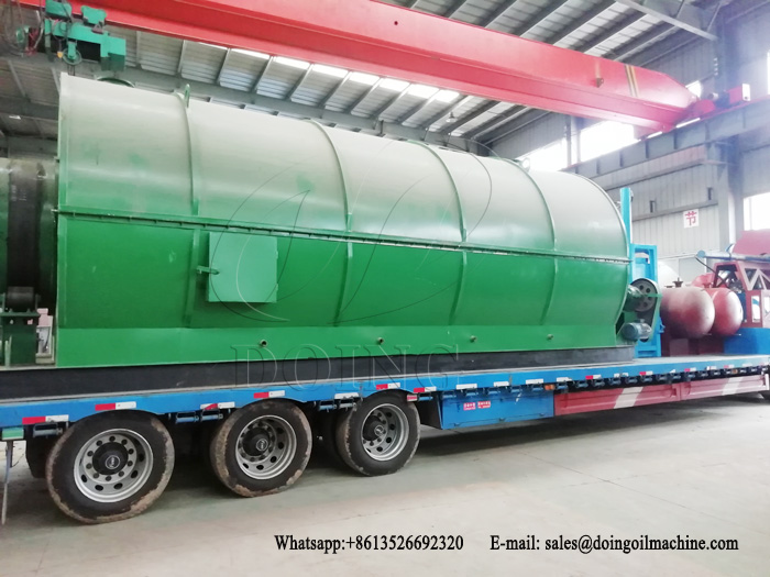 One set 10T/D waste plastic recycling to oil pyrolysis plant was sent to Ethiopia