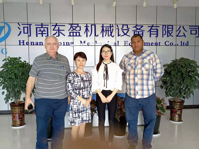 Two Israeli clients visited DOING company for waste tyre pyrolysis equipment