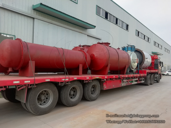 One set five tons waste oil distillation plant will be shipped to Myanmar