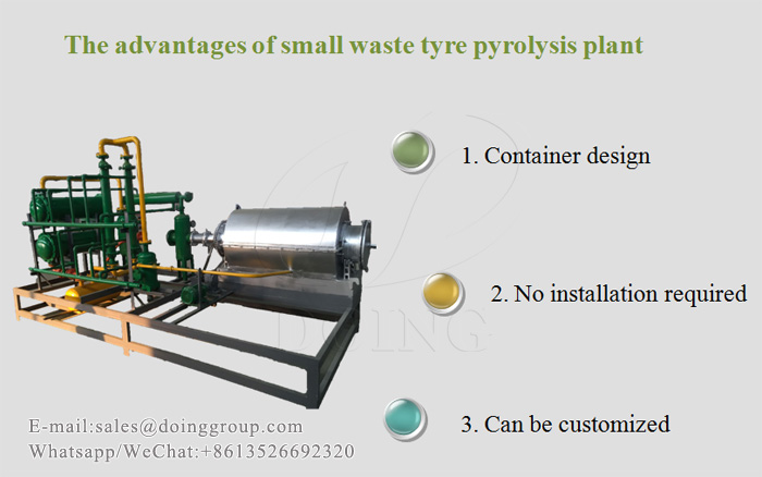 small waste tyre pyrolysis plant