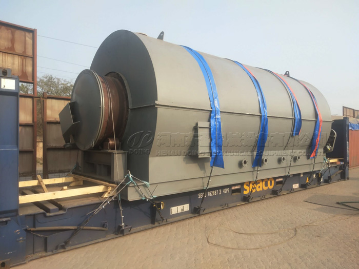 One set 12T plastic pyrolysis plant will be shipped to Ukraine