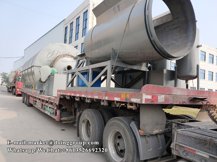 Six sets 12T waste plastic to oil machine will be sent to Tunisia