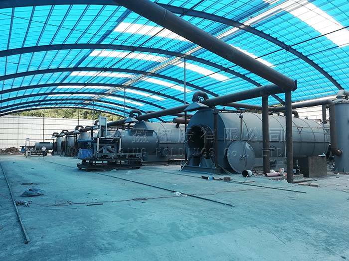 90TPD tyre recycling pyrolysis plant project in China