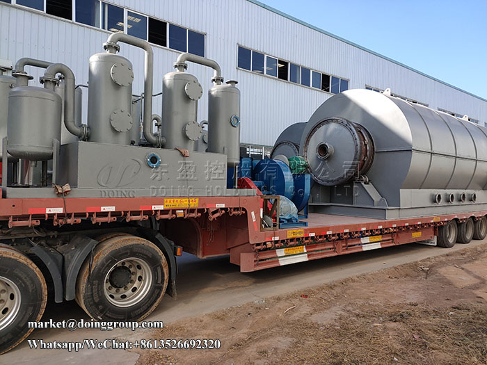 12 sets 12tons scrap tyre pyrolysis plant sent to Guangxi, China